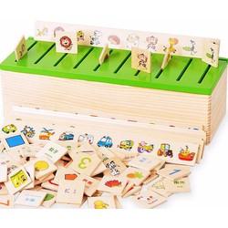 Bộ thả hình theo chủ đề giúp bé phát triển trí nhớ và tư duy