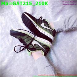 Giày thể thao nam cổ thấp màu xanh lá phối lưới đen GAT215