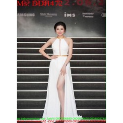 Đầm dạ hội cổ yếm thiết kế xẻ đùi sexy và thời trang DDH472