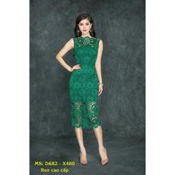 Đầm Ren Hoa Body Cao Cấp Đăng Cổ