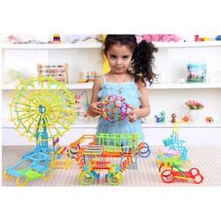 Bộ Đồ chơi xếp hình que 3D 800 chi tiết cho bé thông minh