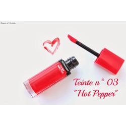 Son kem lì Bourjois Hot Pepper màu 03 - Bill mua hàng tại Pháp
