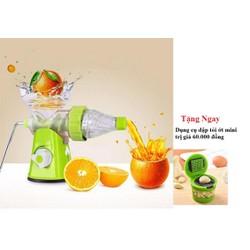 Máy ép nước hoa quả bằng tay tiện ích + TẶNG KÈM dụng cụ dập tỏi mini