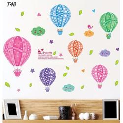 Decal dán tường khinh khí cầu nhỏ