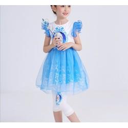 Đầm công chúa Elsa in ngắn