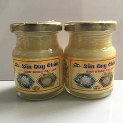 Bộ 2 Lọ Sữa Ong Chúa Tươi thương hiệu Anh Khoa Gia Lai 100g-lọ