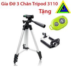 Giá đỡ 3 chân Tripod 3110 và Remote chụp ảnh Bluetooth