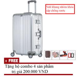 Vali du lịch Khung Nhôm Khóa Sập chống xước 20 inch
