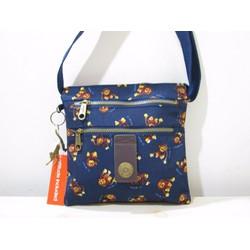 Túi đeo chéo ba đáy Kipling - Xanh họa tiết