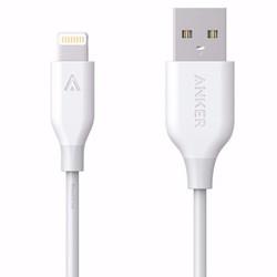 Cáp sạc Anker PowerLine Lightning 0.9m cho iPhone iPad iPod Trắng