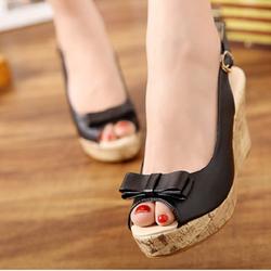 Giày sandal đế xuồng nơ Xinh