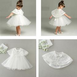 [0-2 tuổi] Hàng nhập đầm kèm áo choàng ren cực xinh