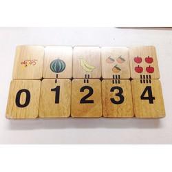 Bộ chi tiết học chữ số đếm | Đồ chơi gỗ giáo dục