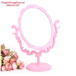 Gương trang điểm để bàn hồng phấn