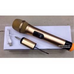 Micro không dây cho loa kéo UHF- 668 vàng