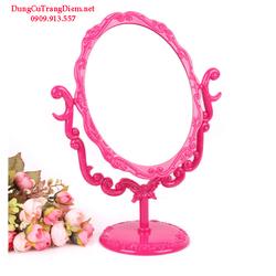 Gương trang điểm để bàn hồng sen