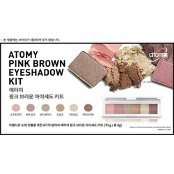 PHẤN MẮT 6 MÀU ATOMY - PINK BROWN EYE SHADOW KIT