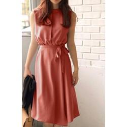 Đầm Xòe Vintage Thiết Kế Kèm Thắt Lưng