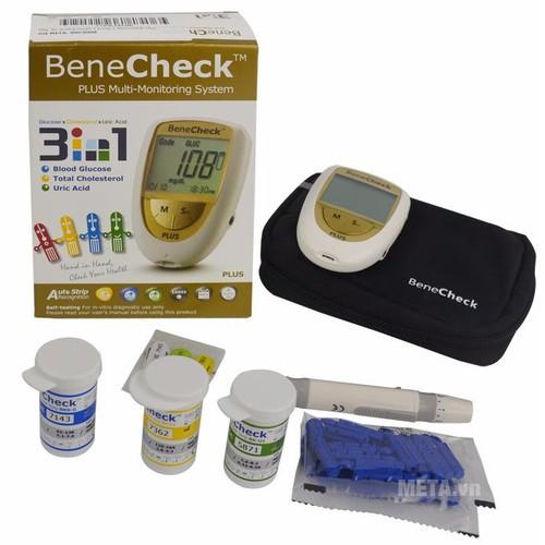 Máy đo đường huyết 3 chức năng Bene check Plus - MDDH_BENE_CHECK_PL