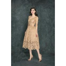 Đầm Xòe Cao Cấp Ren Tay Lỡ