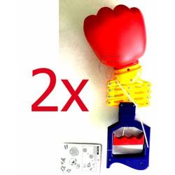 Combo 2 x Quả Đấm Lò Xo Tay Dài Robot Hand Arm Nhựa Cứng Bền