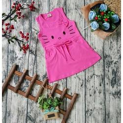 Đầm thời trang hè xuất khẩu giá rẻ bé gái hình mèo Size: 1-8 tuổi