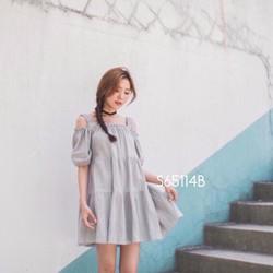 Set đầm babydoll rớt vai + short