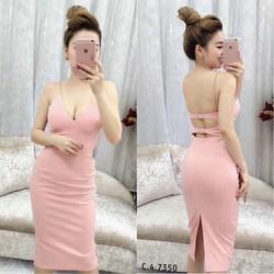Đầm body tag lưng