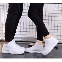 giày sneaker cặp nam nữ màu trắng
