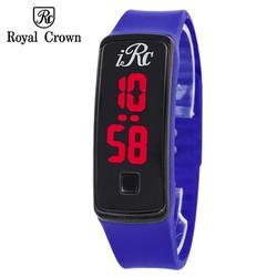 Đồng hồ Led unisex Royal Crown màu xanh dương