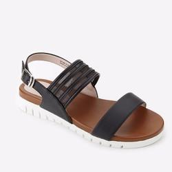Giày Sandals Mirabella quai ngang phối lưới 936 màu đen