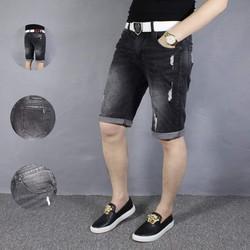 Short jean nam đen rách