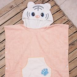 Combo 1 khăn gấu cho bé cam nhạt  1 khăn tắm loại đại cho mẹ