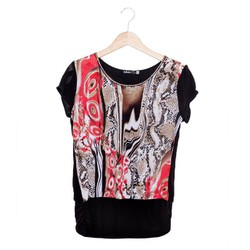 Áo kiểu takara 142 - họa tiết trắng hồng size L