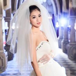 lúp voan ao cưới chụp hình dài ngắn co sẵn