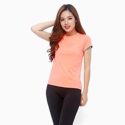 Áo thể thao nữ tay ngắn năng động màu cam Neon - size L