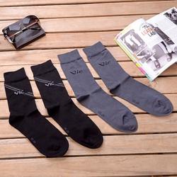 Combo 2 đôi vớ nam công sở màu đen và xám đenThương hiệu Viết Minh