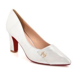 Giày cao gót B24 màu bạc size 39