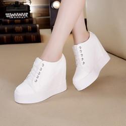 Giày sneaker nữ thể thao tăng chiều cao 11cm cổ thấp