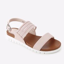 Giày Sandals Mirabella quai ngang phối lưới 936 màu hồng