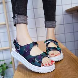 Giày Sandal Nữ quai ngang kiểu dáng thời trang phong cách - XS0451