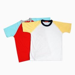 Combo 2 áo thun nam 100 cotton hàng chất lượng - đỏ và trắng