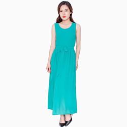 Đầm maxi sang trọng - Màu xanh