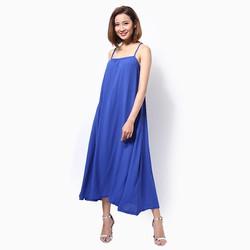 Đầm maxi đi biển màu xanh coban