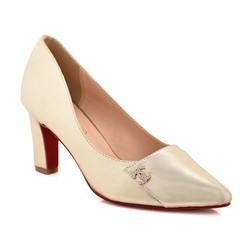 Giày cao gót B24 màu vàng nhũ size 39