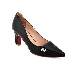 Giày cao gót B24 màu đen size 39