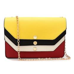 Túi xách phối nắp màu 13757908827TX5521 nắp vàng đỏ