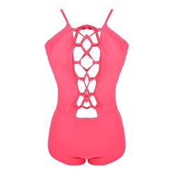 Đồ bơi đan dây hở lưng gợi cảm màu hồng