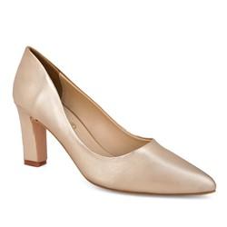 Giày cao gót vuông B22 - vàng nhũ size 39