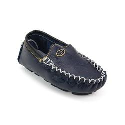 Giày mọi bé trai 100 da thật màu xanh đen